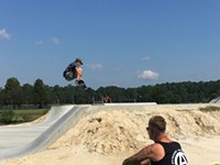 Savannah Skatepark shredding at Lake Mayer