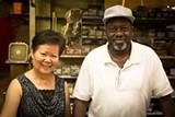 JON WAITS/JWAITSPHOTO - Thrifty Supply owner Carol Chen (l.) and longtime employee Melvin Prescott get set to close the doors forever Sept. 30.