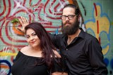 JON WAITS   @JWAITSPHOTO - Savannah Stage Company's Jayme Tinti and Wesley Pridgen.