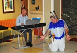 BILL DEYOUNG - With Peter Shannon at the piano, Papageno (Billy Wooten) emotes.