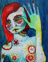 Work by Isak Dove is at Anahata Healing Arts; they have a reception August 2 from 6-9 pm during the First Friday Art March.