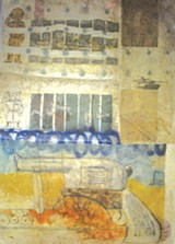 Work in mixed media by Preston Orr can be seen at the Gallery Espresso.