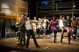 Yes, it's all for the best: AASU's Godspell cast rehearses one of Stephen Schwartz' classic songs.