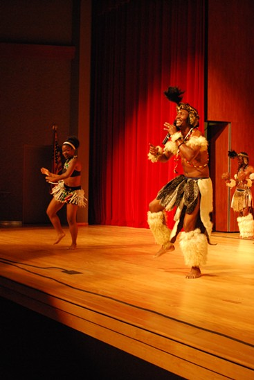 Zulu dancers at Armstrong