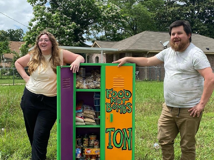 James and Kathleen Magruder founded the local chapter of Food Not Bombs and have established two food pantries. - FOOD NOT BOMBS