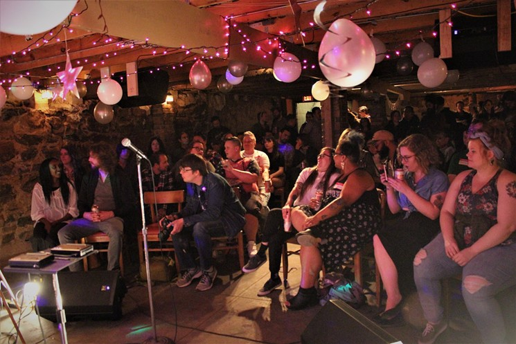 Spiderweb Salon hosted several standing room only events at the Basement. - COURTESY OF COURTNEY MARIE
