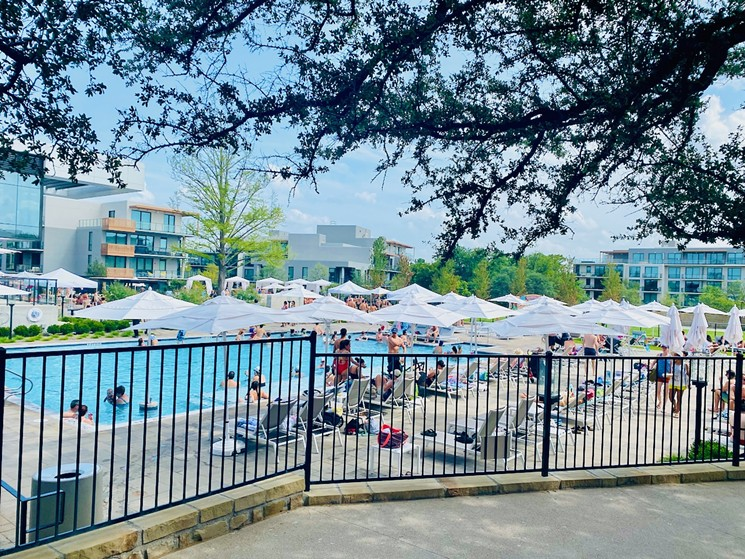That pool at The Village will be filled with mimosas this Saturday. - LAUREN DREWES DANIELS