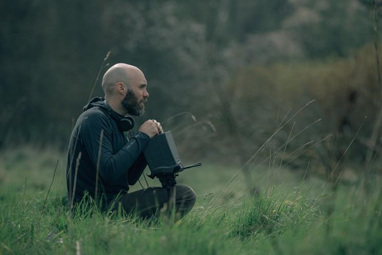 Filmmaker David Lowery on the set of The Green Knight - ERIC ZACHANOWICH
