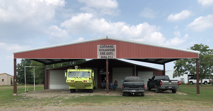 Cuthand's fight against the Marvin Nichols Reservoir began at their volunteer fire department. - JACOB VAUGHN
