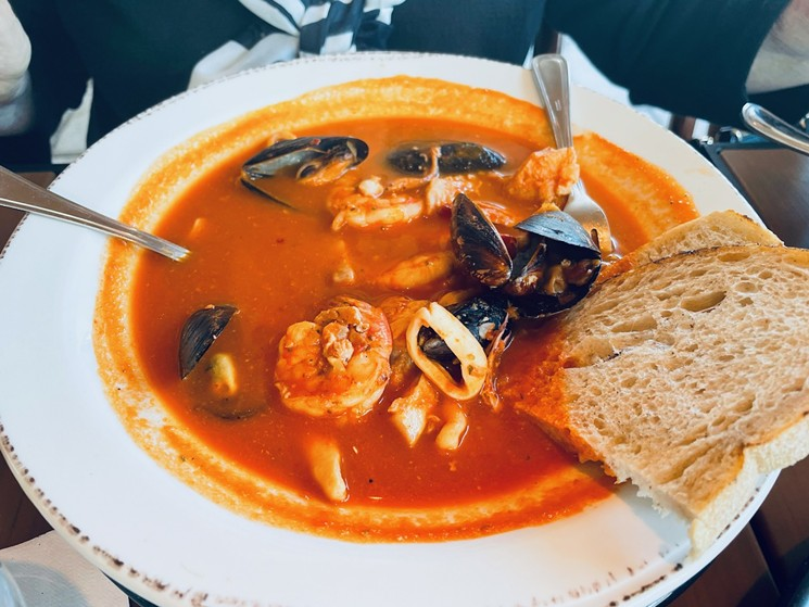 Cioppino at Urban Seafood Co., now open in Plano. - ANGIE QUEBEDEAUX