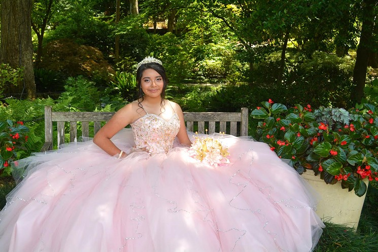 Selected girls will be in a quinceañera fashion show at the Dallas Arboretum and Botanical Garden this week. - COURTESY DALLAS ARBORETUM AND BOTANICAL GARDEN