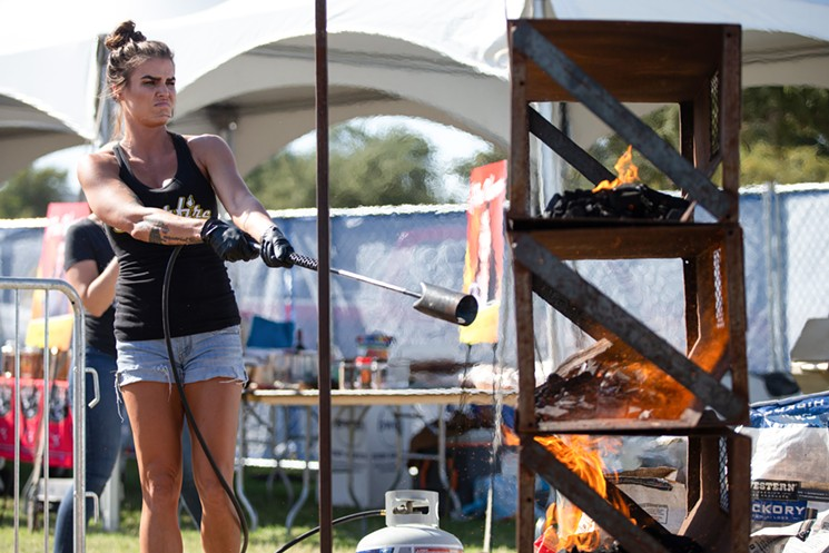 The Fire Woman event is an actual event. - WORLD FOOD CHAMPIONSHIP