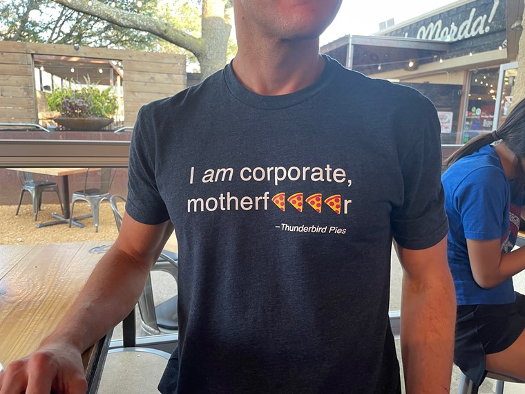 I am corporate, Motherf****r T-shirt from Thunderbird Pies - ANGIE QUEBEDEAUX