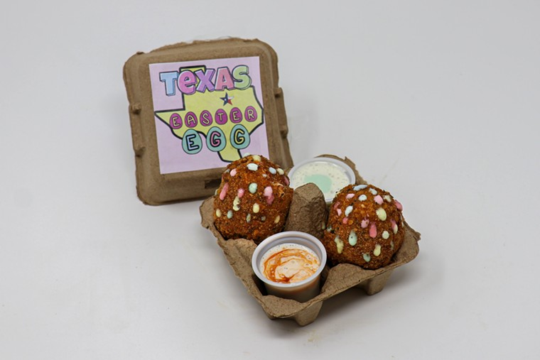 Texas Easter Eggs are loaded with meat, cheese and peppers. - STATE FAIR OF TEXAS