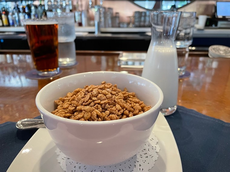 Cocoa Krispies with Kahlua is part of the new brunch options at Bar None. - ANGIE QUEBEDEAUX
