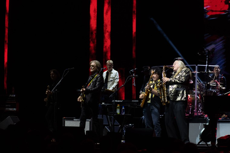 The dynamic duo of Hall & Oates played Dickies Arena on Tuesday night. - ANDREW SHERMAN