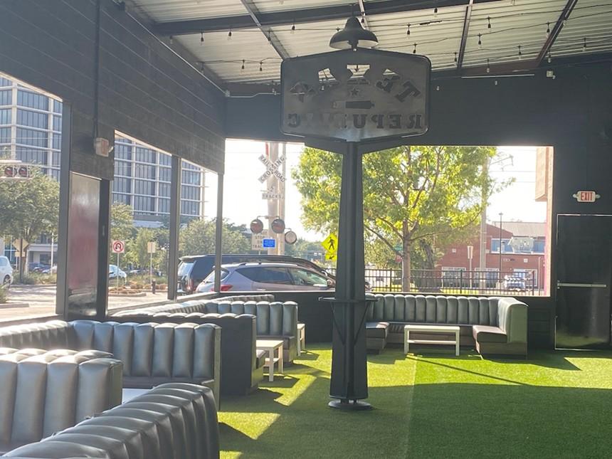 The turfed patio at Texas Republic. - LAUREN DREWES DANIELS