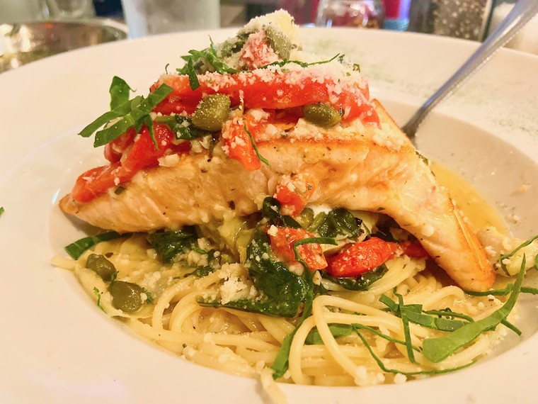 The salmon piccata alone might be worth the trip out east to Rowlett. - ANGIE QUEBEDEAUX