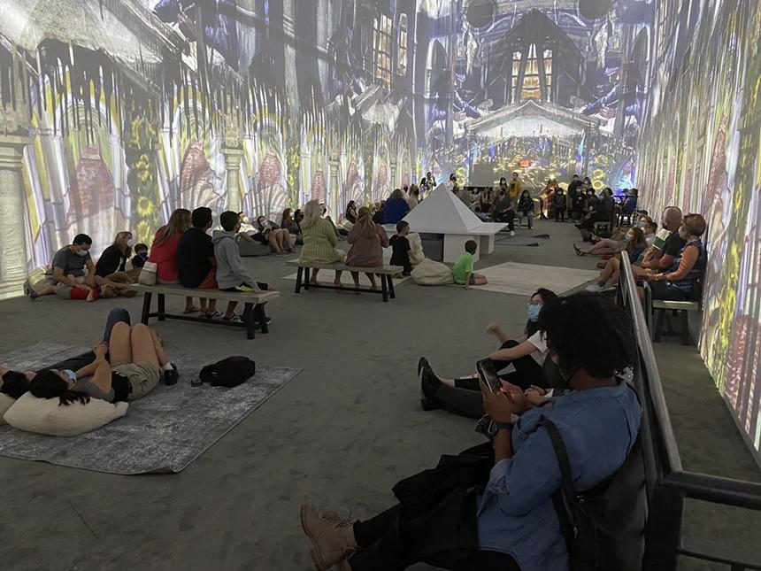 The immersive Van Gogh exhibition at Arlington. - PAIGE WEAVER
