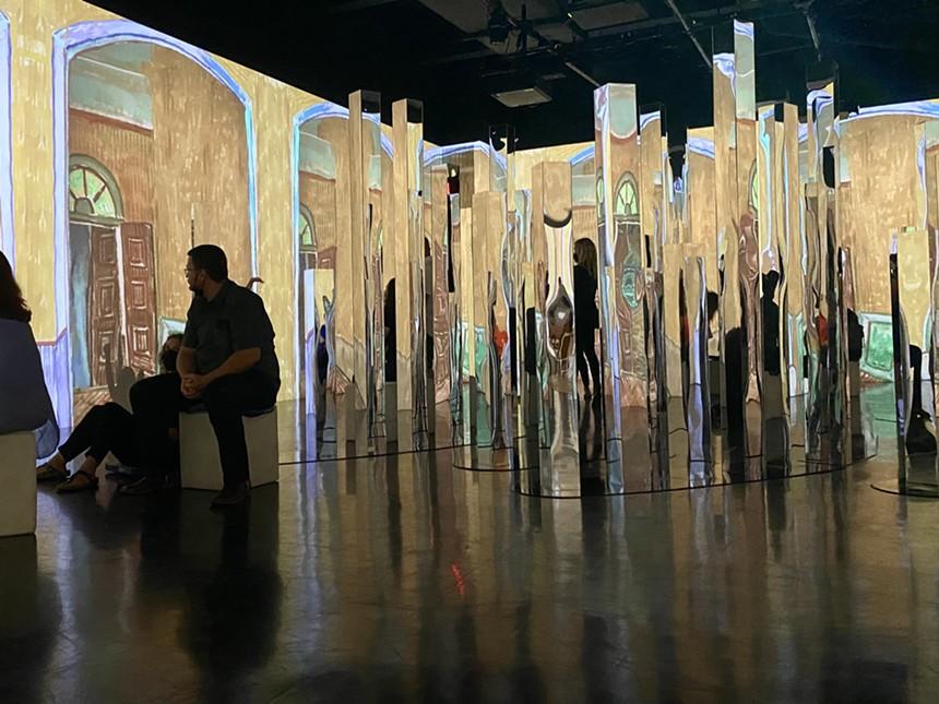 The crystal room at Dallas Van Gogh. - PAIGE WEAVER