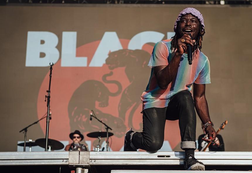 The Black Pumas breaking it down for the hometown Austin crowd. - RACHEL PARKER