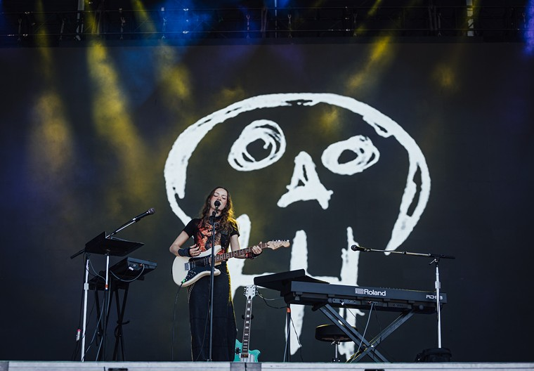 """Holly Humberstone performed one of her first U.S. sets at ACL fest on Saturday, telling an audience member their """"Spit in my mouth"""" sign was """"very special."""" - RACHEL PARKER"""