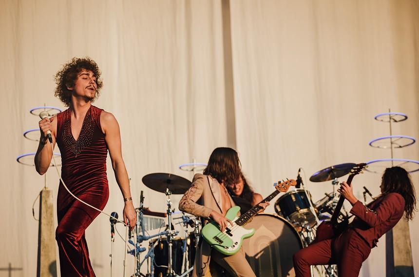 Greta Van Fleet rocked the Lady Bird Stage during Golden Hour on Sunday. - RACHEL PARKER