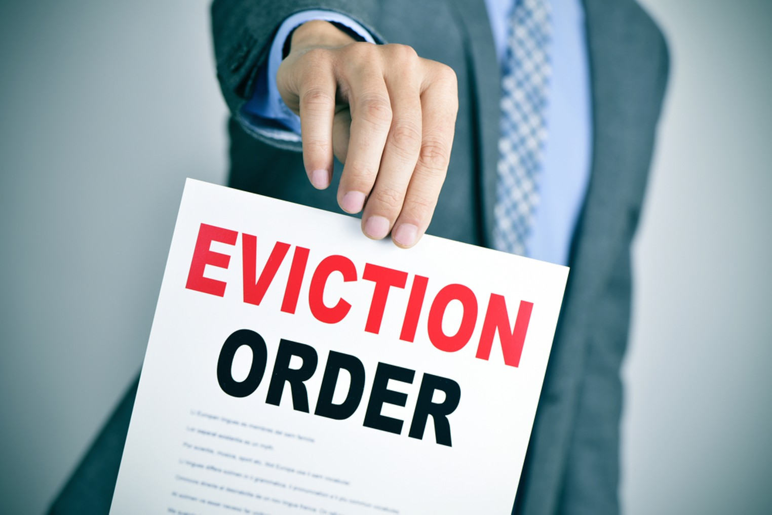 eviction order by nito shutterstock.