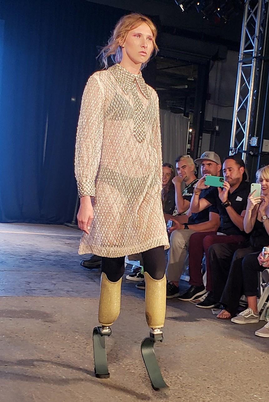 Lexie Bader walks the runway at Denver Fashion Week - KASTLE WASERMAN