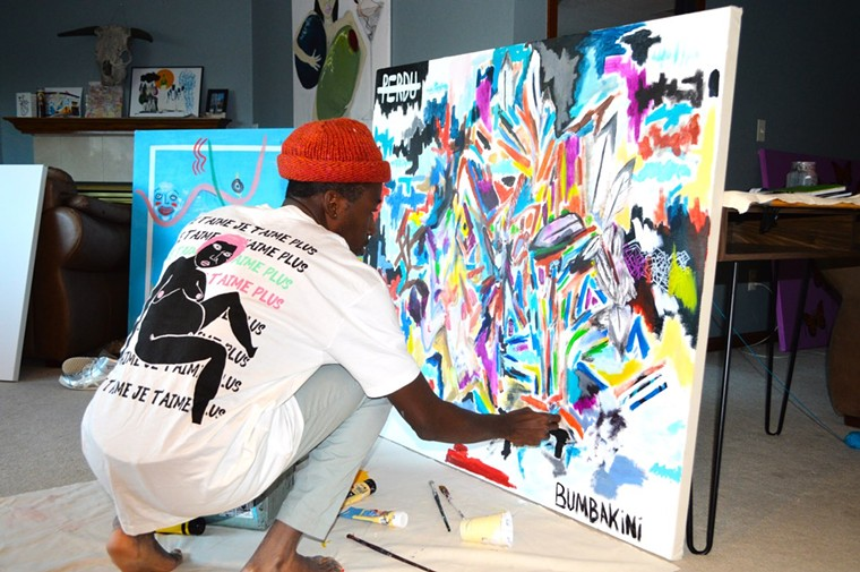 Lio Bumbakini in action. - MUSÉE BUMBA