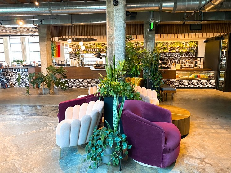 Some of the plush chairs lining Nest Cafe. - DEVON KLUG