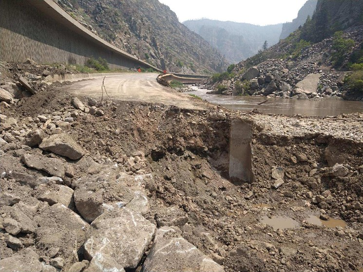 A mudslide devastated a section of I-70 in Glenwood Canyon in late July. - COURTESY OF CDOT