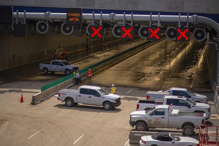 A stretch of interstate through Denver completed in 1964 is now going underground. - EVAN SEMÓN