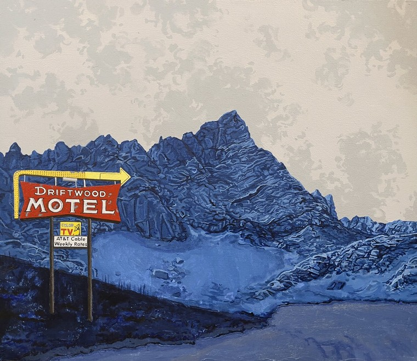 "Earl Churvarsky, ""Driftwood Motel/Crestone."" - EARL CHURVARSKY"