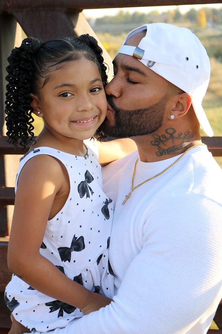 London Monroe and her proud dad, Marcus Smith. - MARCUS SMITH