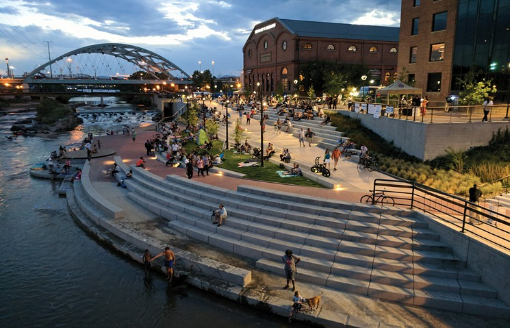 Confluence Park will be redesigned for the River Mile project. - BRAD NICOL PHOTOGRAPHY FOR WENK ASSOCIATES