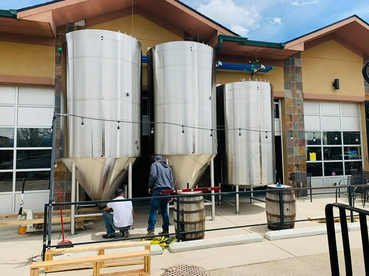 Equipment arriving at the new location a few months ago. - WESTBOUND & DOWN BREWING