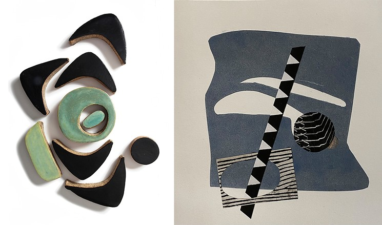 Well-matched works by Spark members Jean Smith and Lydia Riegle. - JEAN SMITH AND LYDIA RIEGLE