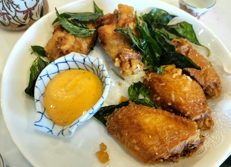 Karaage-style wings from Qi-Lin were light and satisfying. - LINNEA COVINGTON