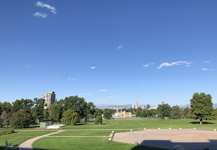 Clear skies by the Denver Museum of Nature & Science. - CHRIS WALKER