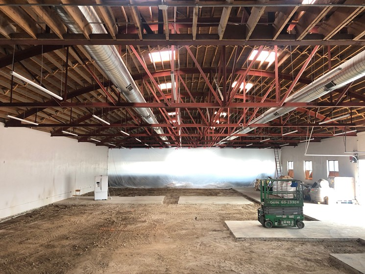 The big barrel roof will allow for a second-story mezzanine. - JONATHAN SHIKES