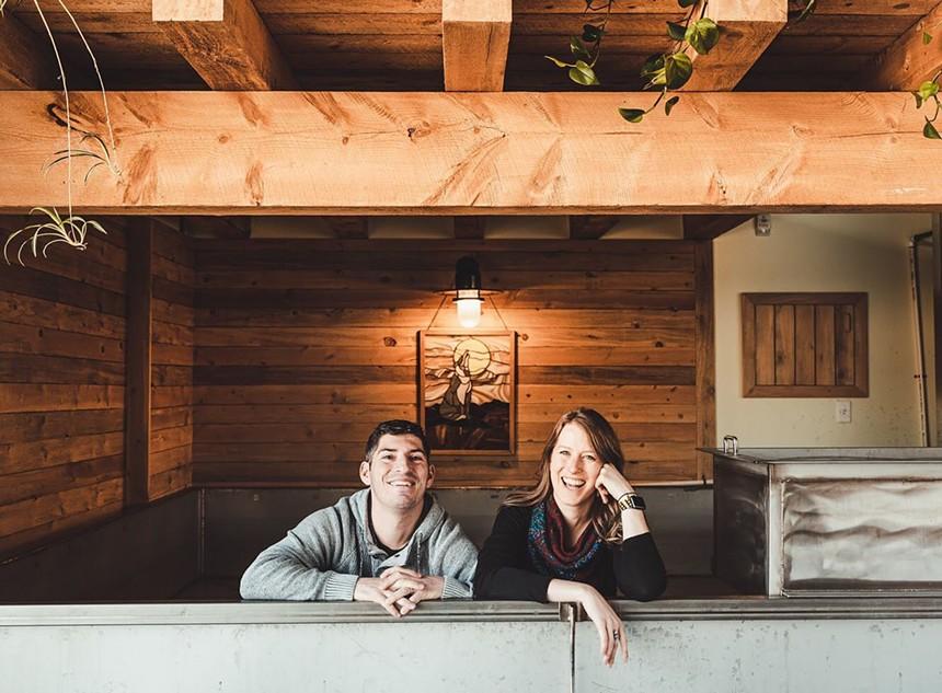 Brandon and Lisa Boldt of Primitive Beer. - PRIMITIVE BEER