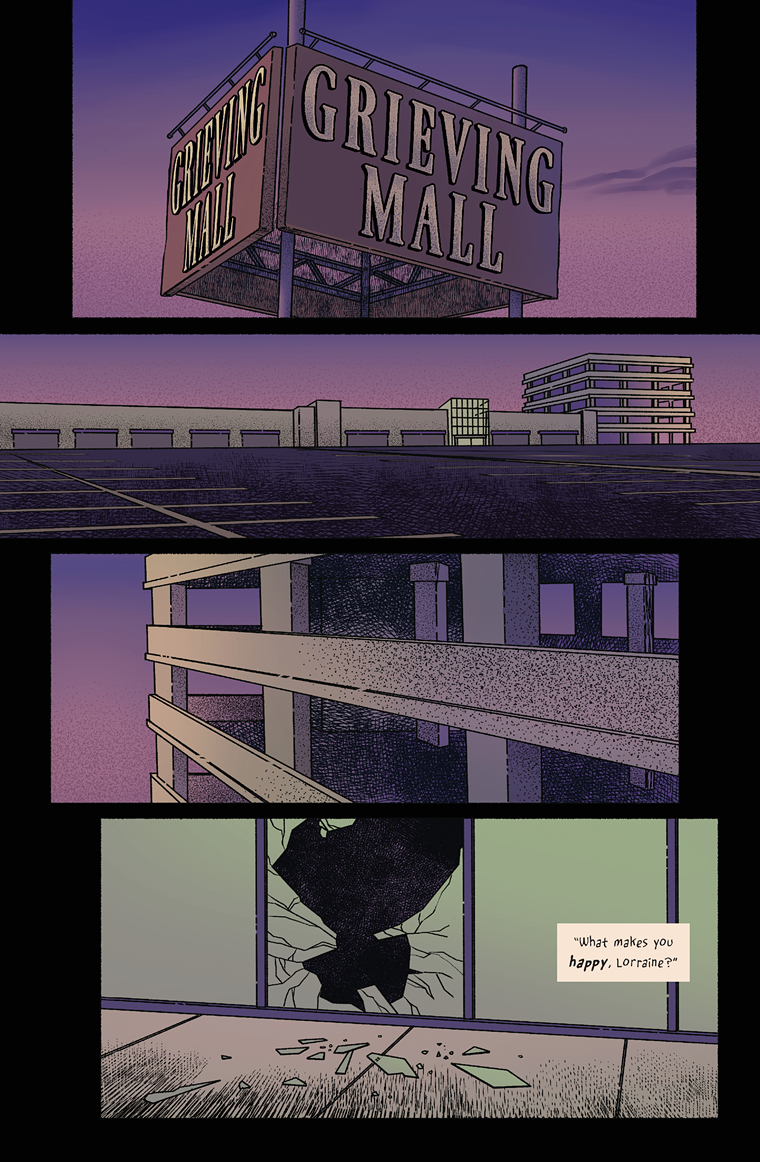 Page one, Grieving Mall. - R. ALAN BROOKS/SARAH MENZEL TRAPL