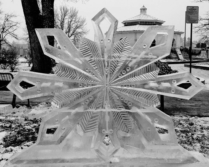 One example of the kinds of sculpture that Colorado Ice Works can make. - COURTESY OF COLORADO ICE WORKS