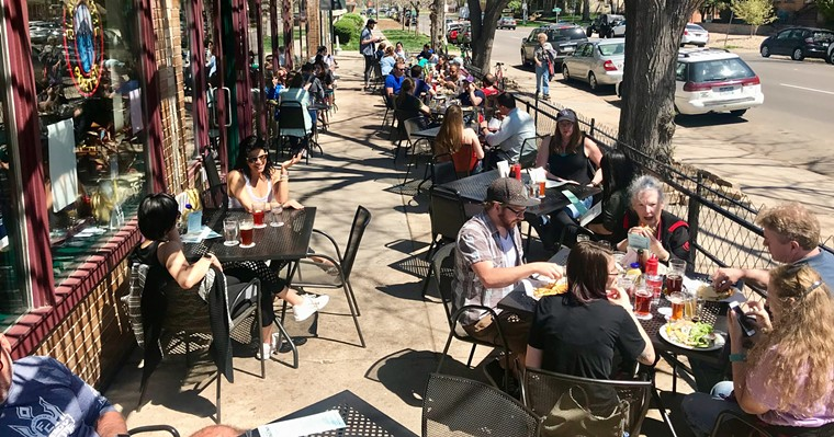 Vine Street's patio will be a destination for drinking beers again...one day. - VINE STREET/FACEBOOK