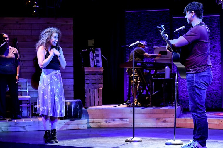 Steph Holmbo and Runner Francisco in the Aurora Fox's production of Hundred Days. - ELICIA JAMES