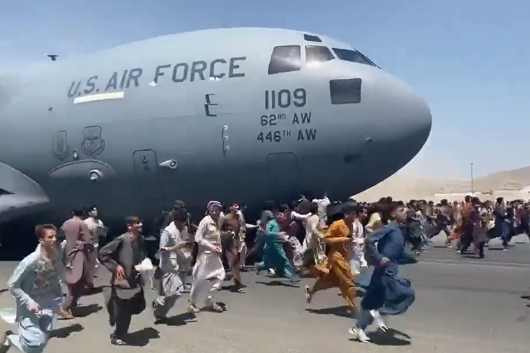 The United States worked to evacuate tens of thousands of Afghan nationals in August. - TWITTER