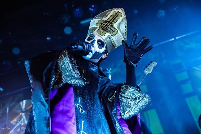 Ghost co-headlines the Ball Arena with Volbeat in February. - AARON THACKERAY