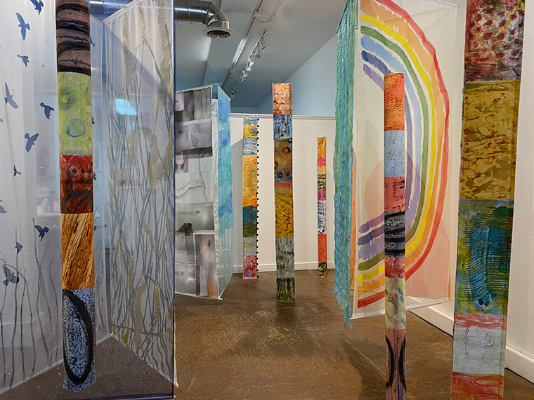 A scene from Catalyst, a gallery-wide collaborative installation by a multidisciplinary group of artists at Niza Knoll Gallery. - COURTESY OF NIZA KNOLL GALLERY