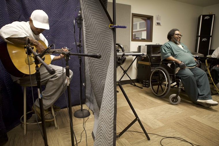 Die Jim Crow set up a makeshift recording studio inside the facility. - COURTESY OF DIE JIM CROW RECORDS